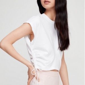 Wilfred white ruched cropped tee